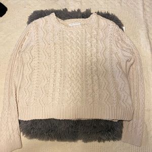 Kendall & Kylie cable knit sweater